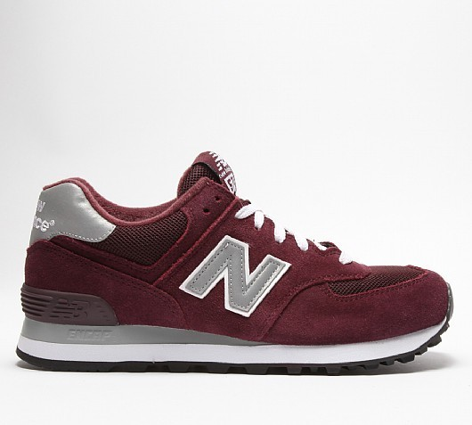 new balance m574 bordeaux homme