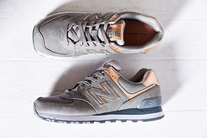 new balance 574 femme or