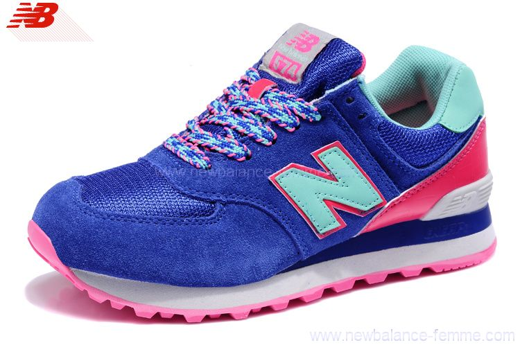 new balance 574 grise rose bleu