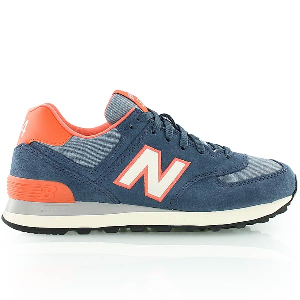 new balance ml574 bleu orange
